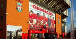 Outside the Liverpool stadium