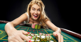 a casino winner claiming betting chips